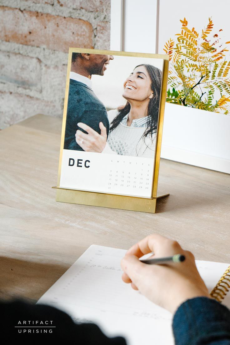 We bet you've never seen a calendar like this. @artifactuprsng's Brass Easel + Calendar combines solid brass with thick paper for an unrivaled desk accessory.