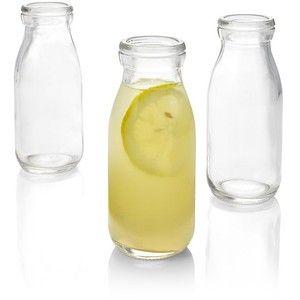 Crate & Barrel Bottle Glass