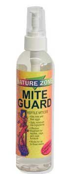 Nature Zone liquid mite guard is the first minimum risk pesticide for use in reptile habitats. Mite Guard is formulated with all natural ingredients. It kills reptile mites safely. Comes in 8-ounce pe...