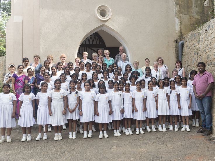 Singing with a local choir on our singing holiday in Sri Lanka.
