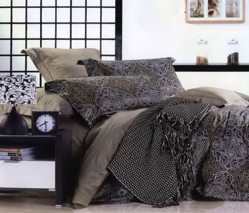 125 best images about stuff to buy on pinterest - Gray and black comforter set ...