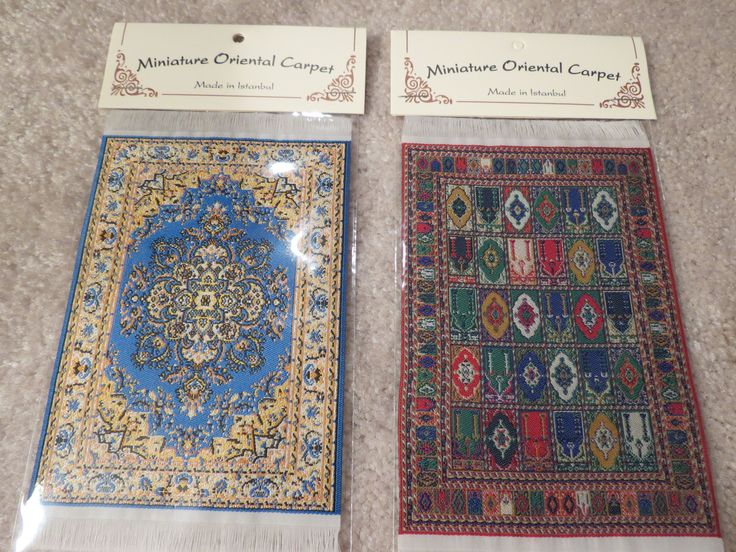 """From left to right are the 4"""" x 6"""" carpets SM3 and SM4."""