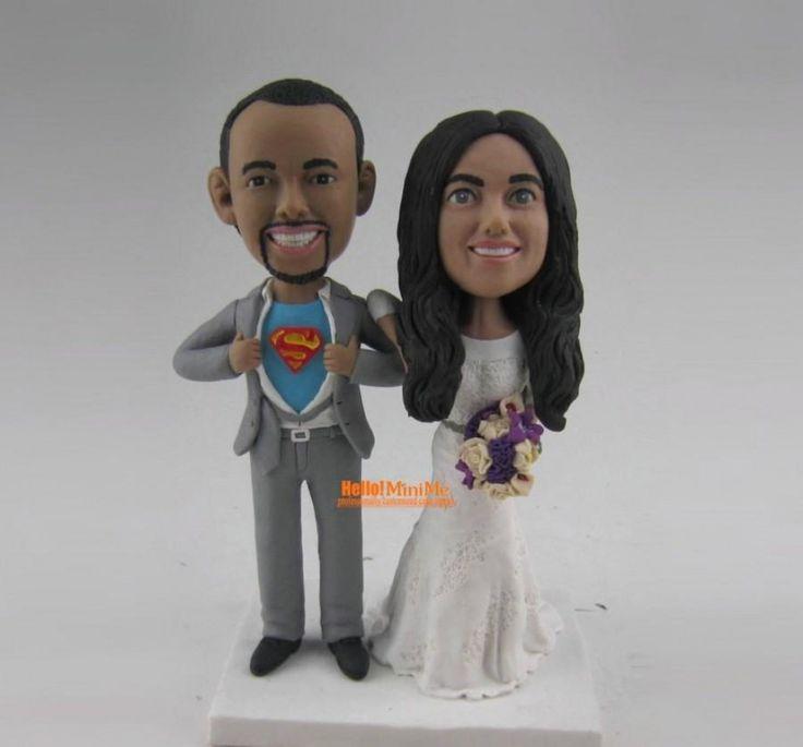 superman cake topper wedding topper bobblehead custom cake topper with custom bobblehead wedding cake toppers