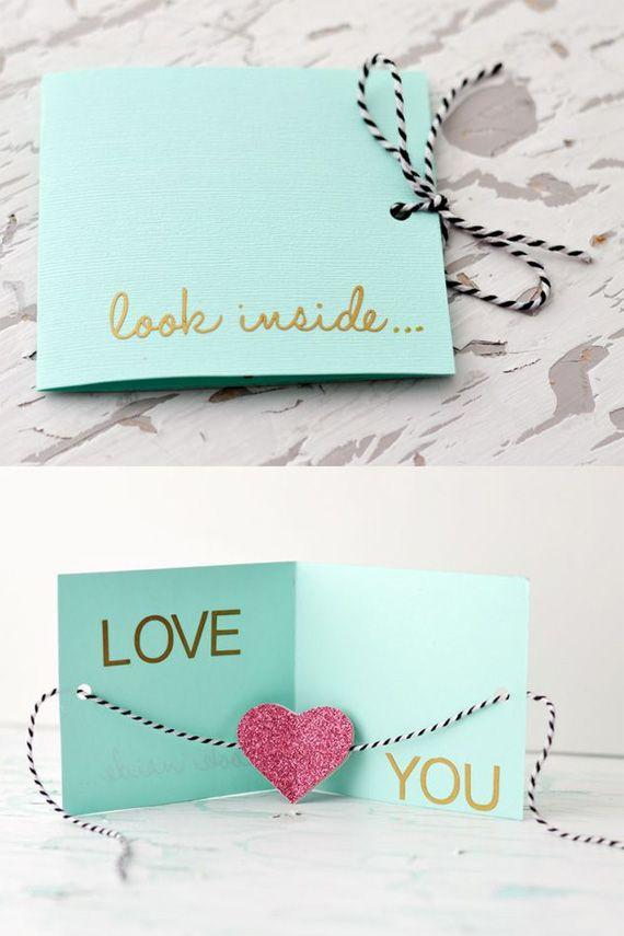 открытка валентинка я тебя очень люблю делаем своими руками