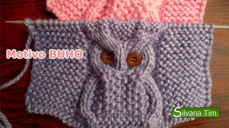 TEJIDO con DOS AGUJAS - punto BUHO. Como tejer punto buho: descripción con grafico para tejer en mi blog: http://silvana-tim.blogspot.com.ar/2014/08/tejido-d...
