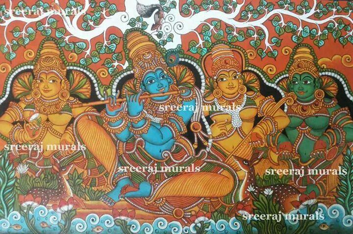 Kerala mural painting kerala mural art pinterest for Mural kerala