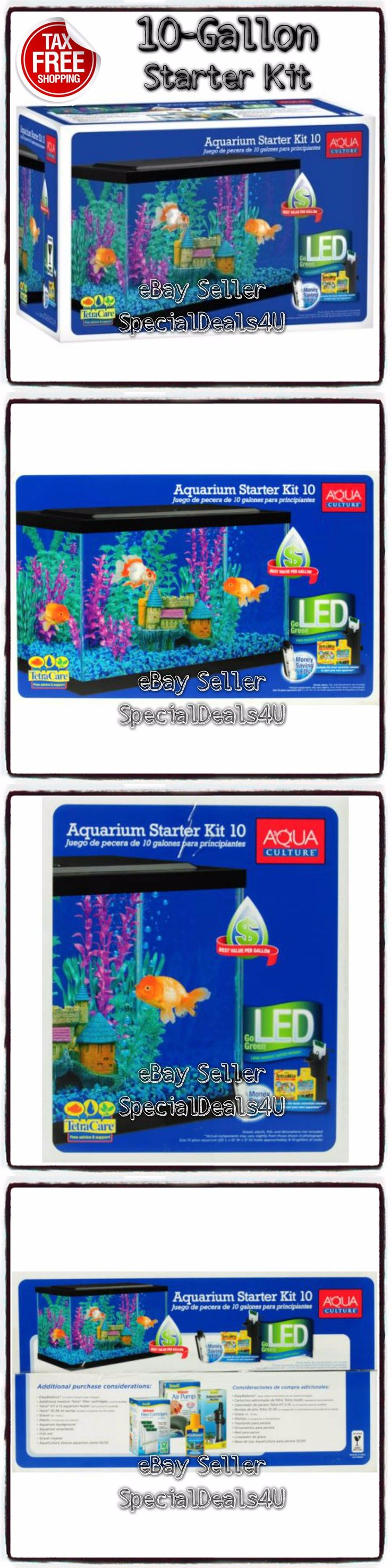 Bl system how many fish in a 55 aquaponics tank info - Aquariums And Tanks 20755 Aquarium Kit 10 Gallon Fish Tank Led Light Hood Filter Clear