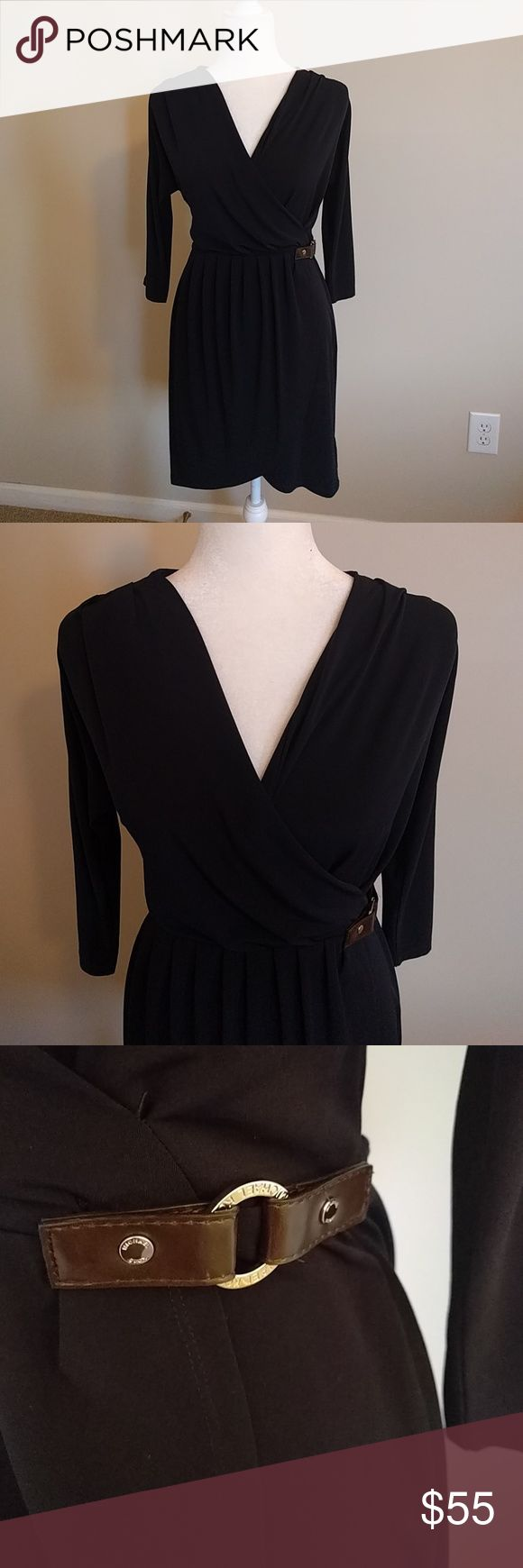 MICHAEL Michael Kors navy wrap dress PM NO OFFERS PLEASE. Priced as low as I can go.  MICHAEL Michael Kors navy blue dress. Size US Petite M Great staple piece to any wardrobe. Excellent used condition. No mark or tears. Smoke and pet free home. MICHAEL Michael Kors Dresses