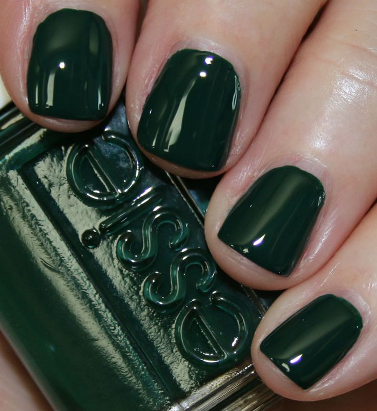 25+ Best Ideas About Dark Green Nails On Pinterest