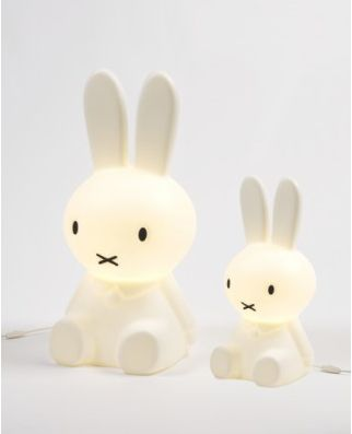 These are so cute. Little Nijntje lamps! My daughters would go crazy over them.