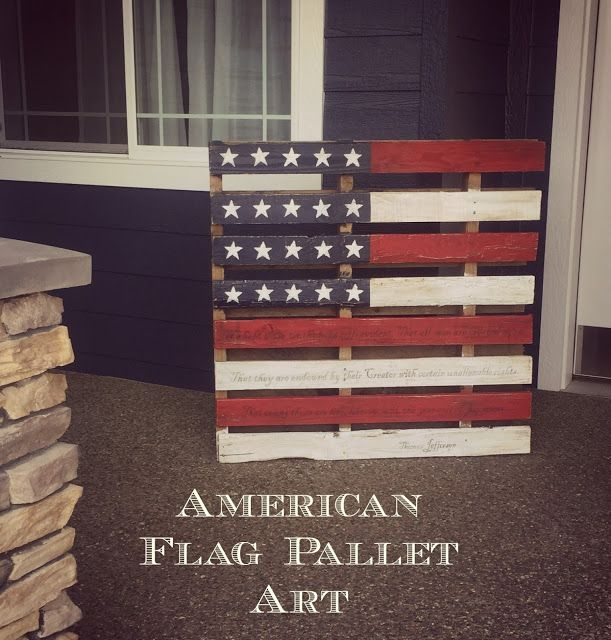 My American Flag Pallet, tutorial is up on the blog!