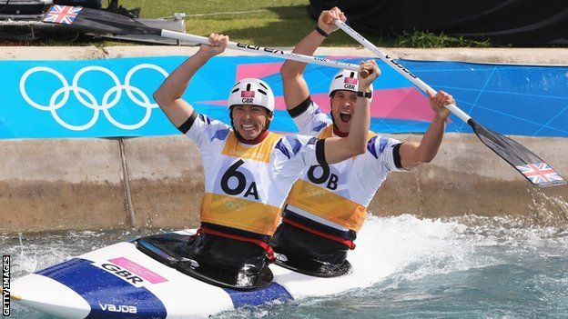 David Florence and Richard Hounslow celebrate silver