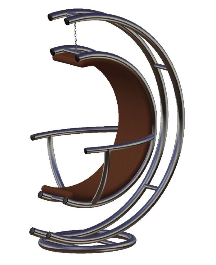 """Chaise by seVen  """"pour ce concept j'ai principalement misé sur le savoir faire de Fab21 en essayant d'utiliser principalement que du tube metalique. Le portique modulaire est constitué d'un chassis principal uniquement en tubes et propose : - une version """"Fauteuil"""" avec un corps tubulaire egalement et une assise en cuir envelloppant l'utilisateur. - une version """"Plateau"""" avec un entourage tubulaire et un plateu en verre."""" CAO, CAD, 3D, Design, Lynkoa"""