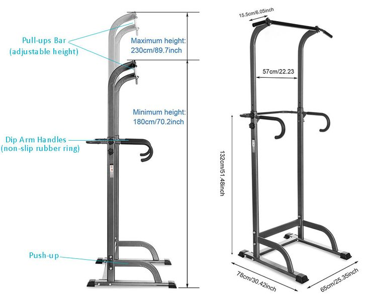 Ancheer Adjustable Power Tower dimensions #Ancheer #powertower