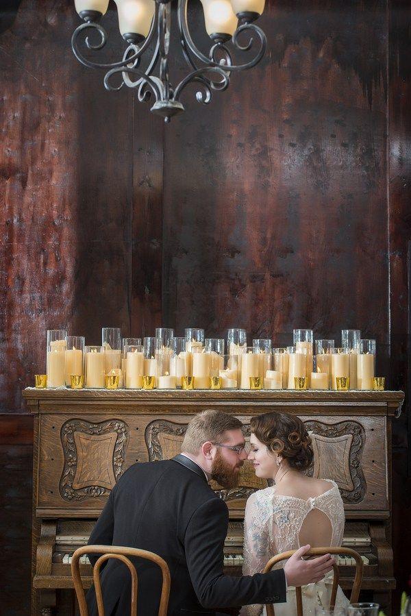 Vintage Speakeasy Wedding Inspiration Photographer:  IJ Photo