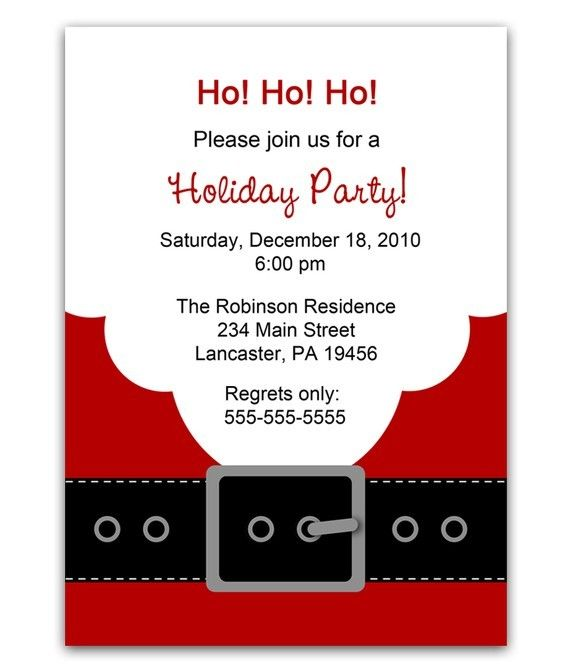 38 best Holiday Party Invites images on Pinterest Christmas - birthday invitation wording no gifts donation