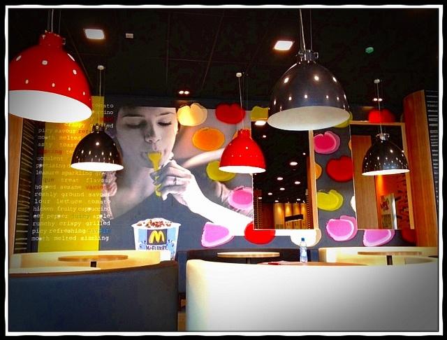Interior shot of McDonald's Flagship Olympic Restaurant - London (by McDonaldsCorp, via Flickr)