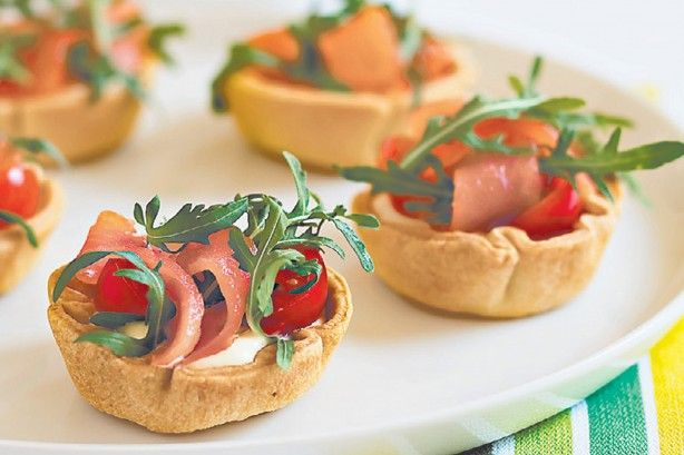 Smoked salmon tarts main image