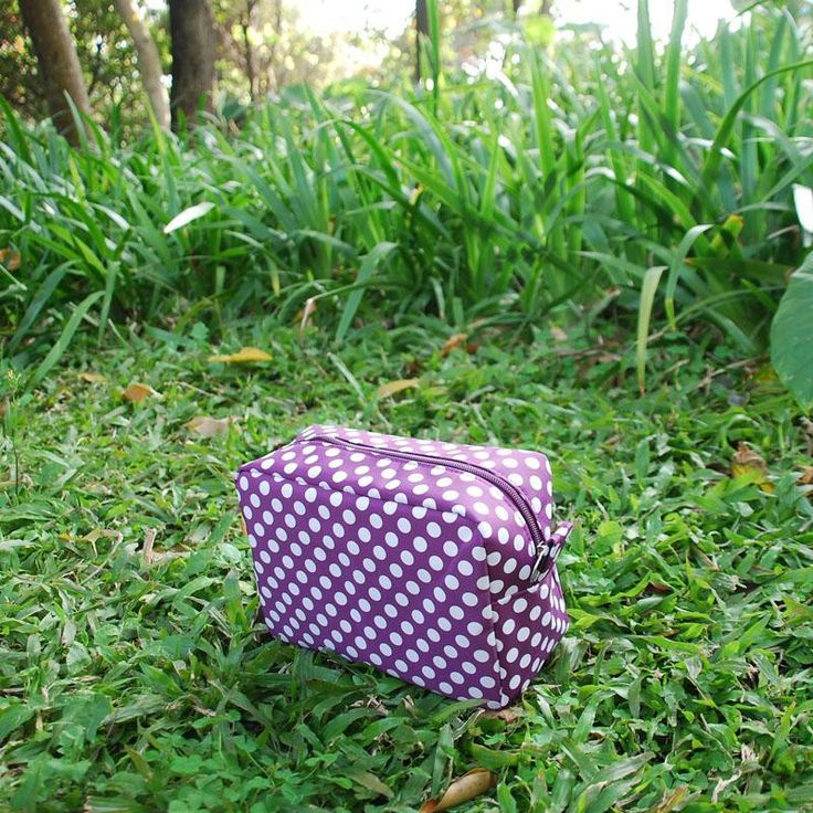 Fashion Polka Dot Rectangle Cosmetic Bags Wholesale Blanks