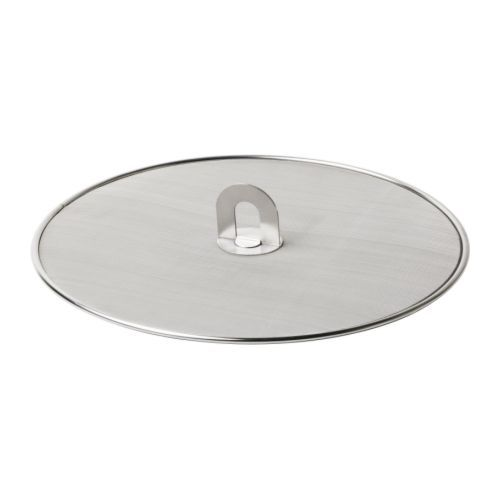 "STABIL Splatter screen IKEA Holds most frying pans up to 13"" in diameter. Folding handle; saves space when stored."