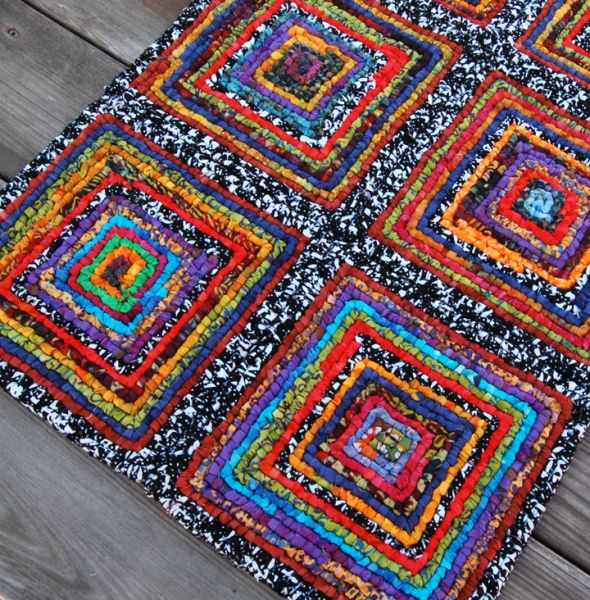 how to finish a hooked rug easy