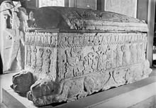 Sarcophagus of Ahiram in the National Museum of Beirut. Ahiram or, more correctly, Ahirom was a Phoenician king of Byblos (ca. 1000 BC). He became famous only by his Phoenician inscribed sarcophagus which was discovered in 1923 by the French excavator Pierre Montet in tomb V of the royal necropolis of Byblos. He was succeeded by his son Ittobaal who is the first to be explicitly entitled King of Byblos.