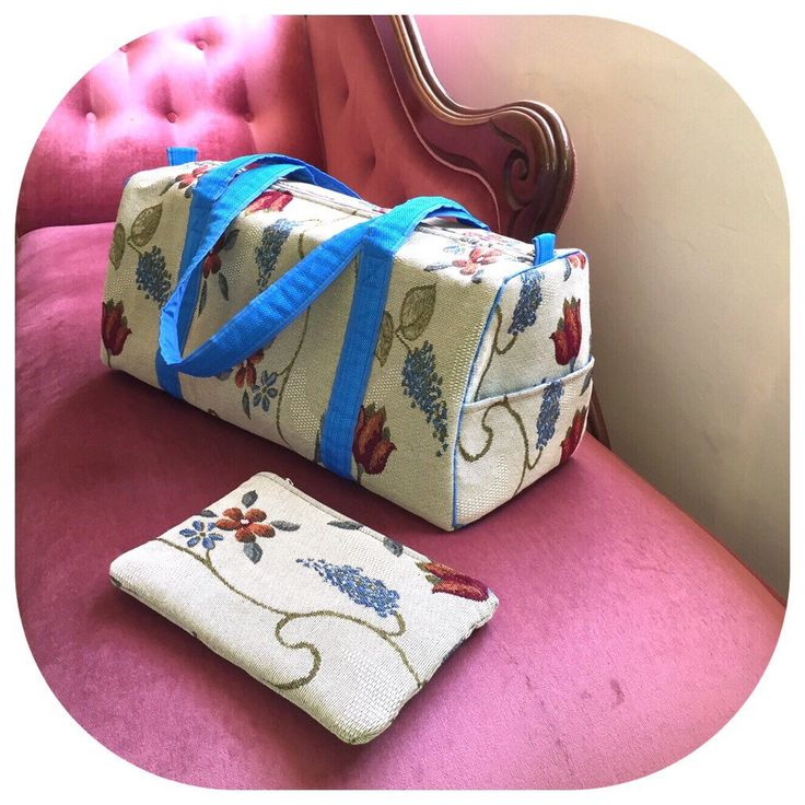 Duffle Bag - upholstery - travel bag by EverSewNice on Etsy https://www.etsy.com/listing/482062974/duffle-bag-upholstery-travel-bag