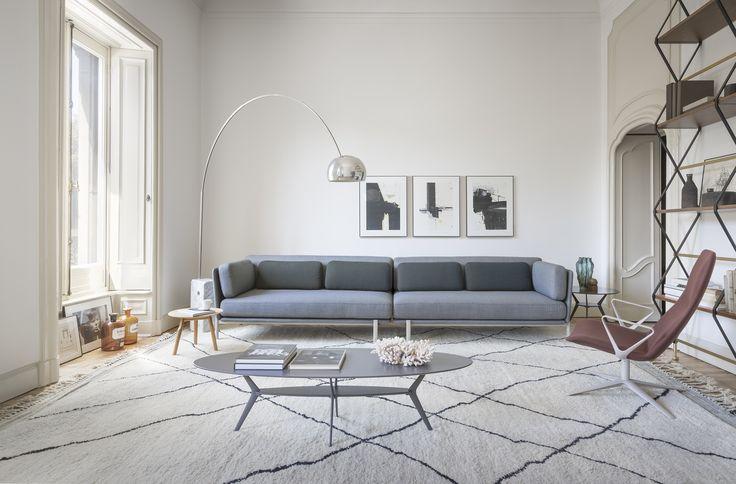 Living room: have a seat on twelve sofa or slim lounge chair by Pearsonlloyd  with Kvadrat fabrics  #aliasmood #aliasathome