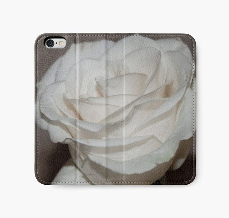 iPhone Wallet. #rose #whiterose #roseart #sandrafoster    https://www.redbubble.com/people/sandrafoster/works/8343322-purity-in-a-white-rose?p=iphone-wallet