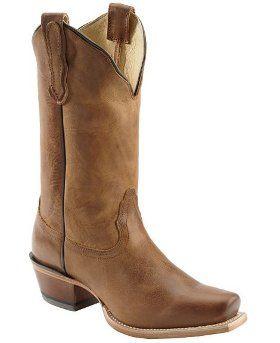 Ковбойские женские сапоги Nocona Old West Tan, форма мыса - Square Toe
