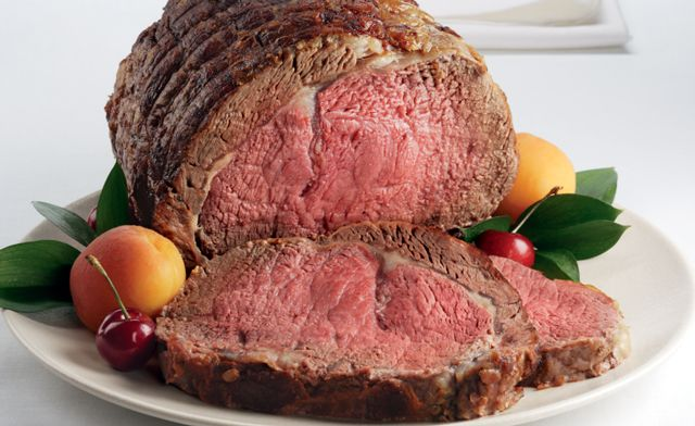 Kansas City Steaks®: Steakhouse Rub Prime Rib Roast with Mac & Cheese