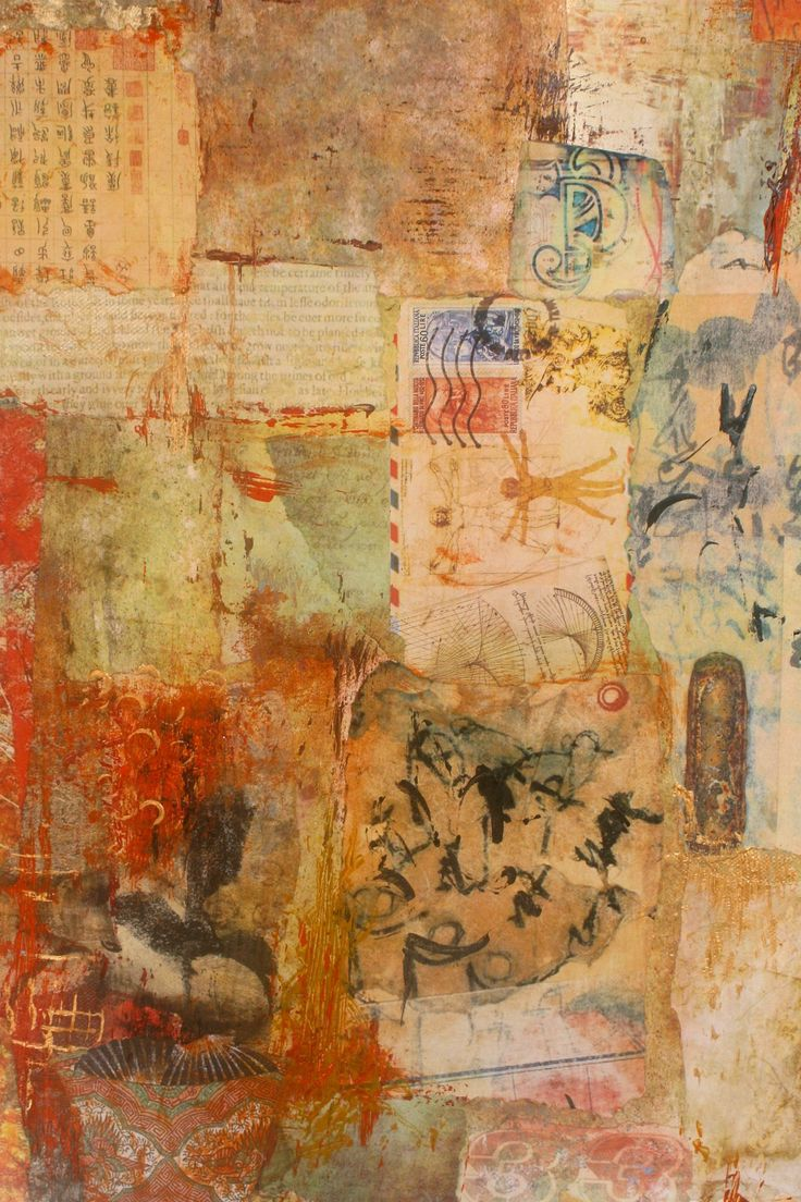 "Ifigenia Christodoulidou ""Guardian Angel"" (detail) Mixed media collage, acrylic, photo transfer and paper on canvas, 60x40 cm"
