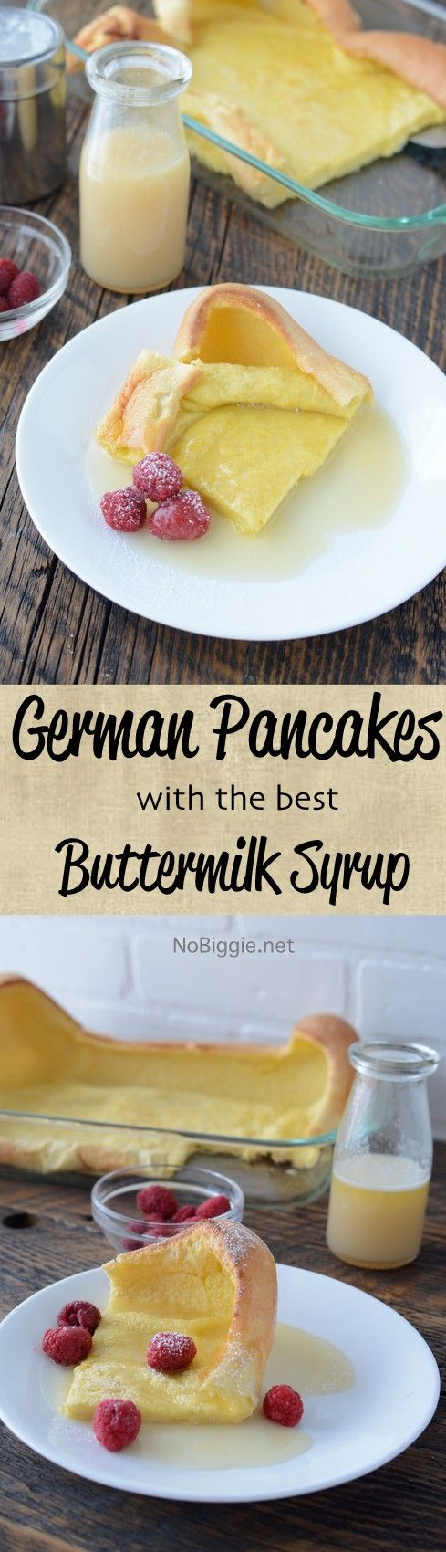 German Pancakes with the best buttermilk syrup | NoBiggie.net