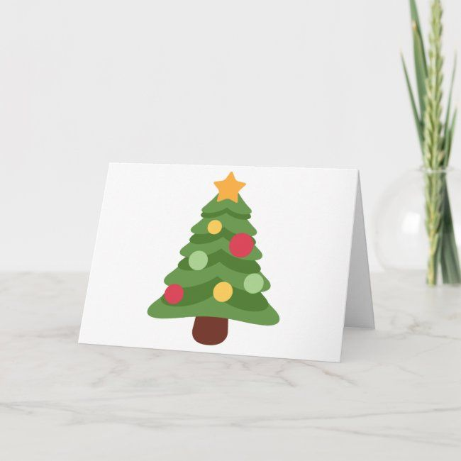 Christmas Tree Emojis Holiday Card Zazzle Com In 2020 Holiday Design Card Holiday Cards Emoji Christmas