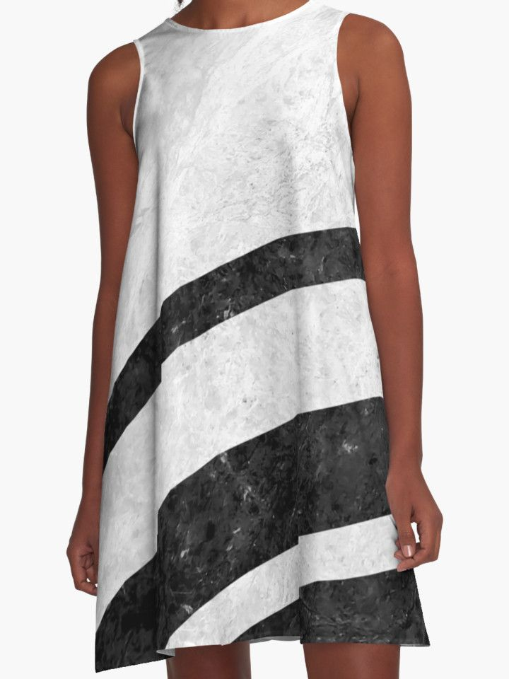 White Striped Marble by ngdesign81 #marble #stone #texture #pattern #black #white #stripe #striped #dress #fashion
