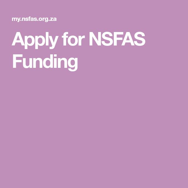Apply for NSFAS Funding | How to apply, Education, Gaming ...