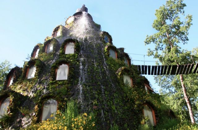 [hotel amidst] Huilo-Huilo biological reserve in Patagonia, Chile