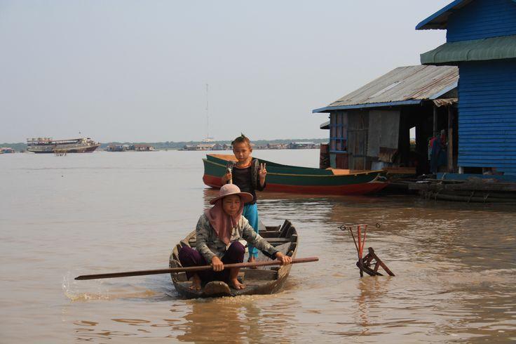 Tonle Sap Lake em Siĕmréab, Siem Reap