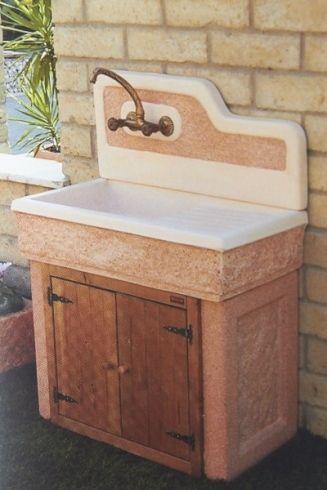 Lavabo da esterno affordable mobile con lavatoio da cm in for Mobile giardino