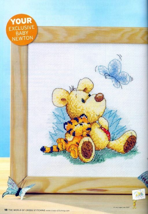 Meet Baby Newton The World of Cross Stitching Issue 128 September 2007  Saved