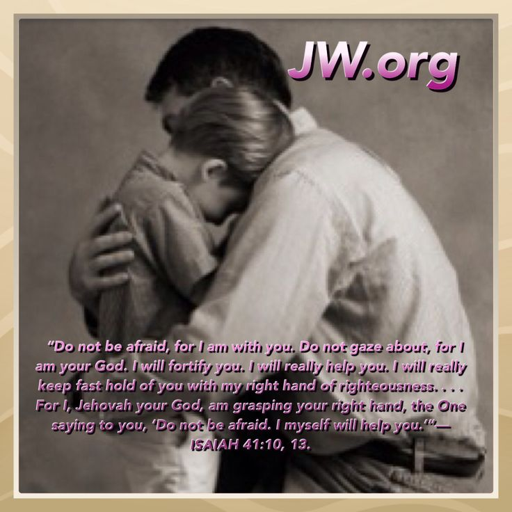 """Isaiah 41:10, 13 - What a warm picture that conveys—Jehovah grasping one's hand! When a little boy walks hand in hand with his father, he feels safe and secure. How do we keep Jehovah at our """"right hand""""? Two ways: 1} Let his Word guide us in every aspect of life; 2} Look to the glorious prize Jehovah has set before us. For further info, please visit jw.org for the Bible & Bible study aids."""