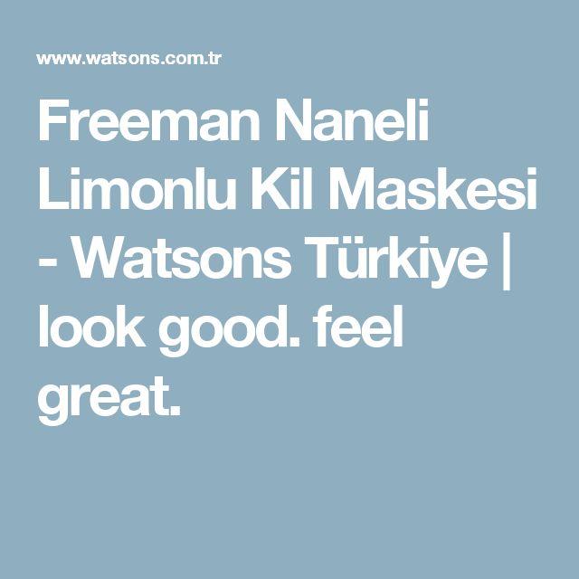 Freeman Naneli Limonlu Kil Maskesi - Watsons Türkiye | look good. feel great.