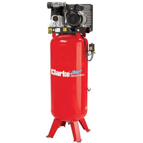 Clarke VE18C150 18cfm Industrial Vertical Electric Air Compressor 1ph (150ltr) - Machine Mart - Machine Mart