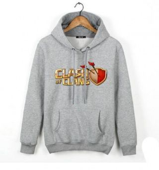 Clash of Clans pullover hoodies for men COC game fleece