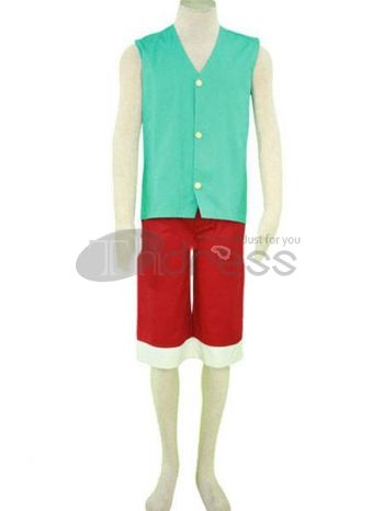 one piece luffy blue cosplay costumes. suit to summer and beach.