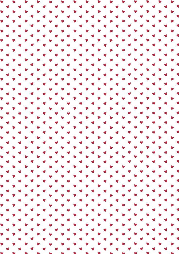 Little red hearts wallpaper.