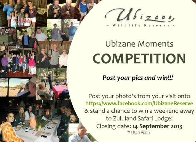 Post your photo's on our facebook page and stand the chance to win a Weekend Getaway!