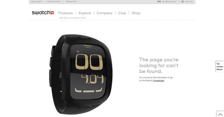 Swatch 404 error page
