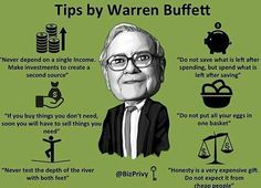 Some tips from the Oracle of Omaha - Warren Buffett  #stocks #forex #wallstreet #nyse #nasdaq #money #business #tsx #markets #stockmarket #entrepreneur #dowjones #finance #economy #stockexchange #daytrader #investor #stocktrader #trader #warrenbuffett #oracleofomaha #berkshirehathaway