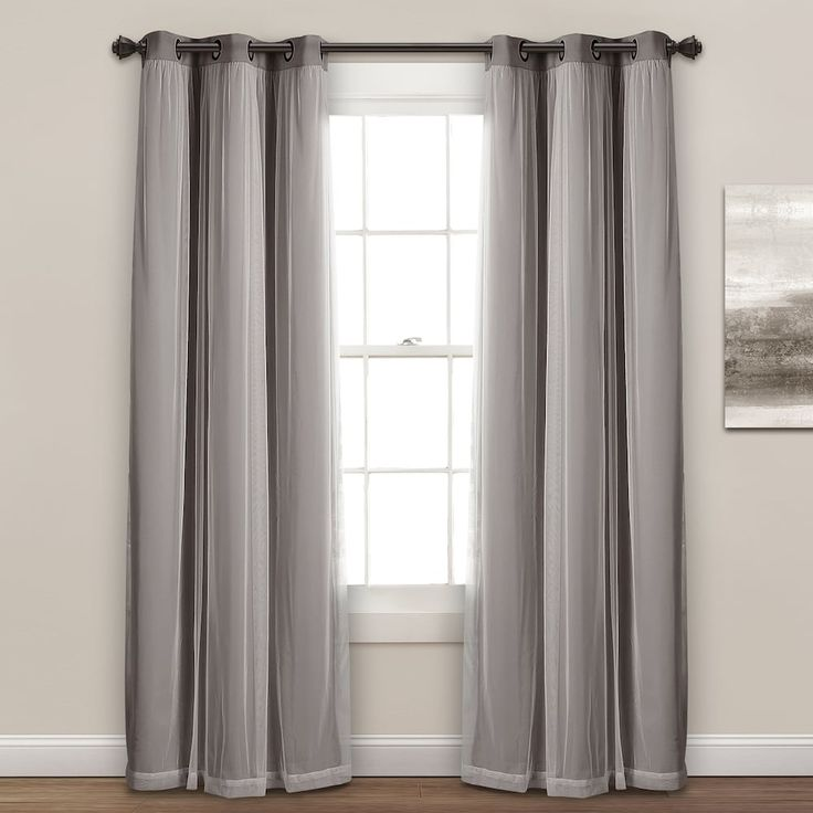 Lush Decor 2-pack Sheer Window Curtains   Curtains, Lush ...